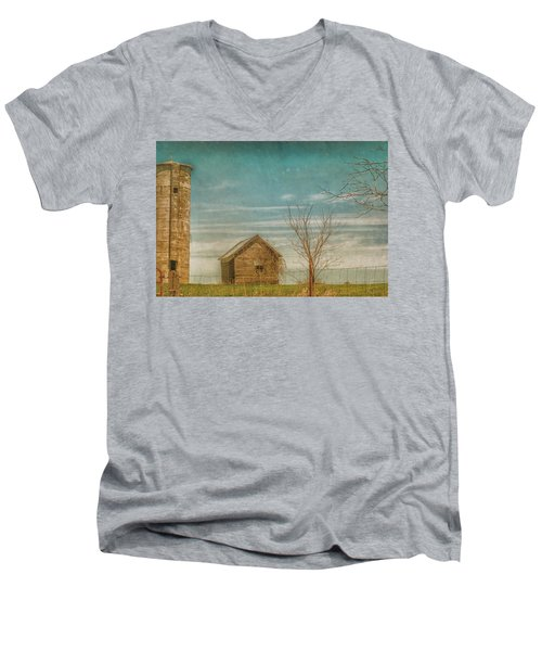 Out On The Farm Men's V-Neck T-Shirt by Pamela Williams