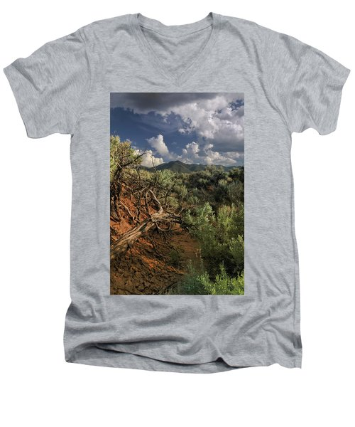 Out On The Mesa 2 Men's V-Neck T-Shirt