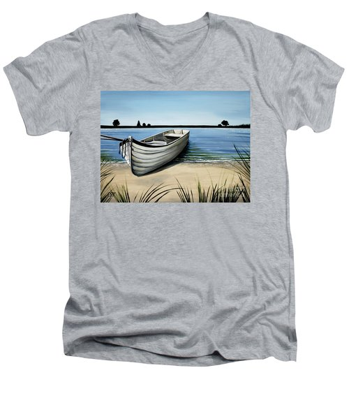 Out On The Water Men's V-Neck T-Shirt