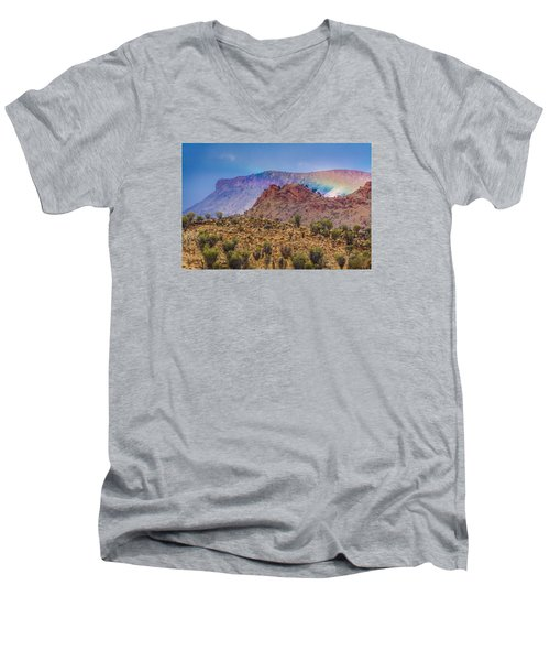 Outback Rainbow Men's V-Neck T-Shirt by Racheal  Christian