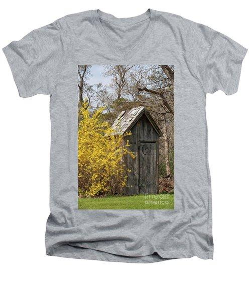Outdoor Plumbing Men's V-Neck T-Shirt by Nicki McManus