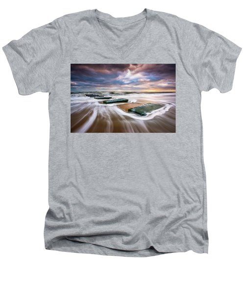 Outer Banks North Carolina Beach Sunrise Seascape Photography Obx Nags Head Nc Men's V-Neck T-Shirt
