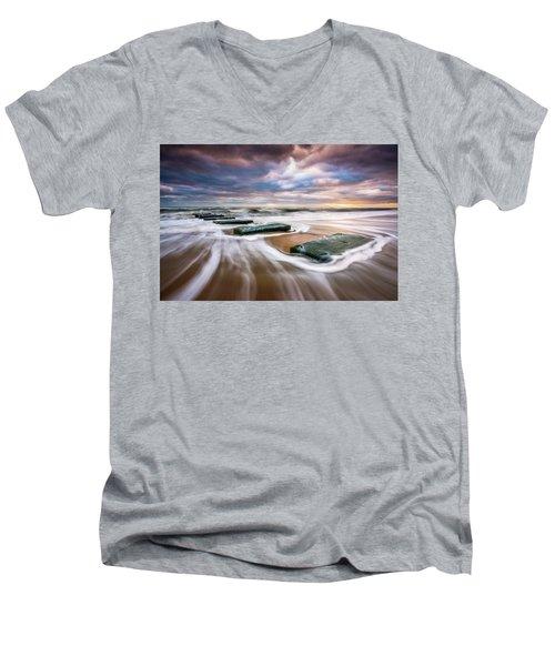 Outer Banks North Carolina Beach Sunrise Seascape Photography Obx Nags Head Nc Men's V-Neck T-Shirt