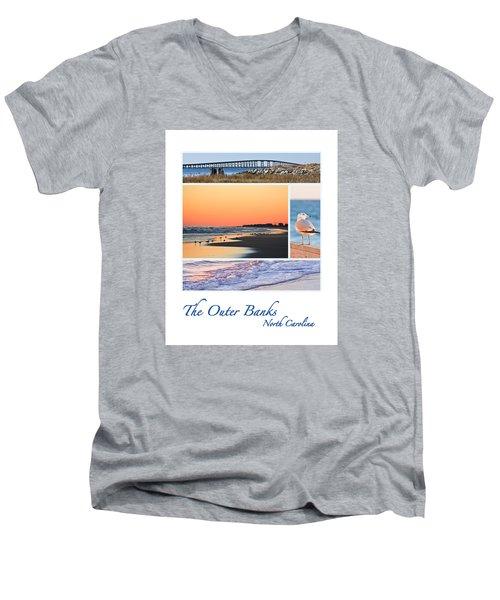 Outer Banks North Carolina Men's V-Neck T-Shirt