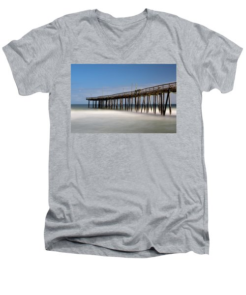 Outer Banks Pier Men's V-Neck T-Shirt