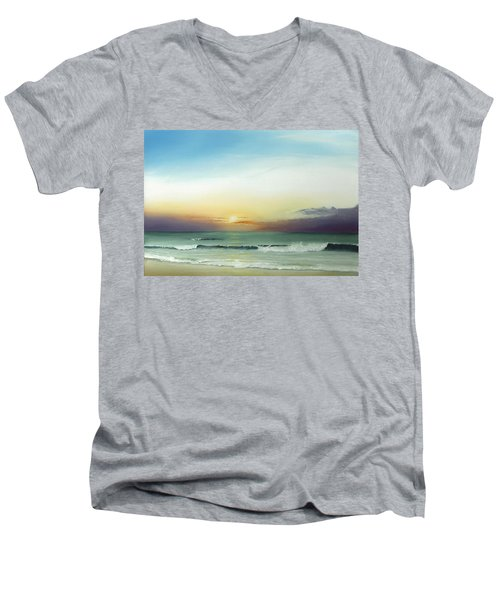 East Coast Sunrise Men's V-Neck T-Shirt