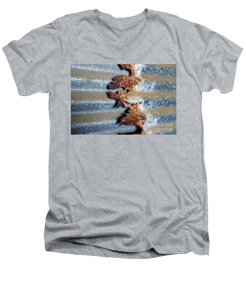 Men's V-Neck T-Shirt featuring the photograph Over And Above by Stephen Mitchell
