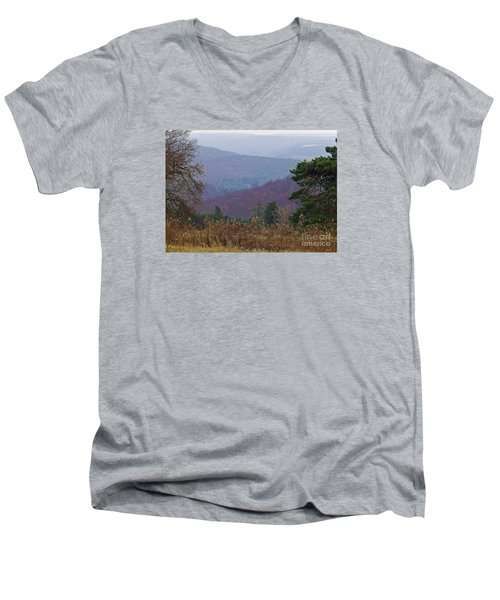 Men's V-Neck T-Shirt featuring the photograph Over And Over And Over by Christian Mattison