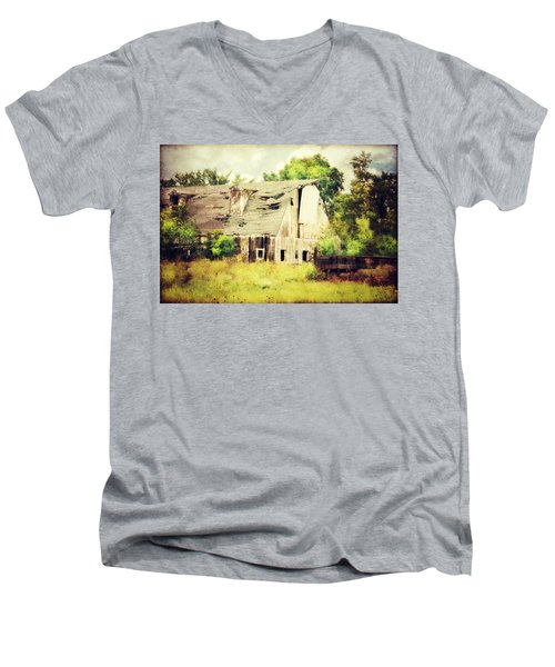 Men's V-Neck T-Shirt featuring the photograph Over Grown by Julie Hamilton