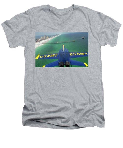 Over Pensacola Beach Men's V-Neck T-Shirt