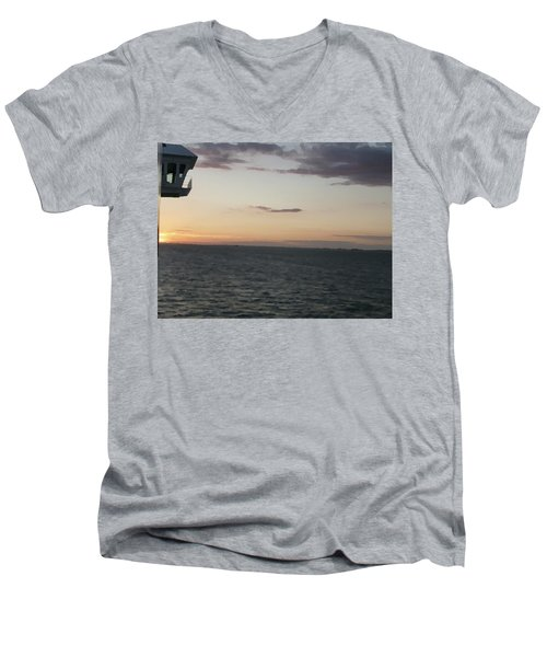 Over The Edge Photo/painting Men's V-Neck T-Shirt