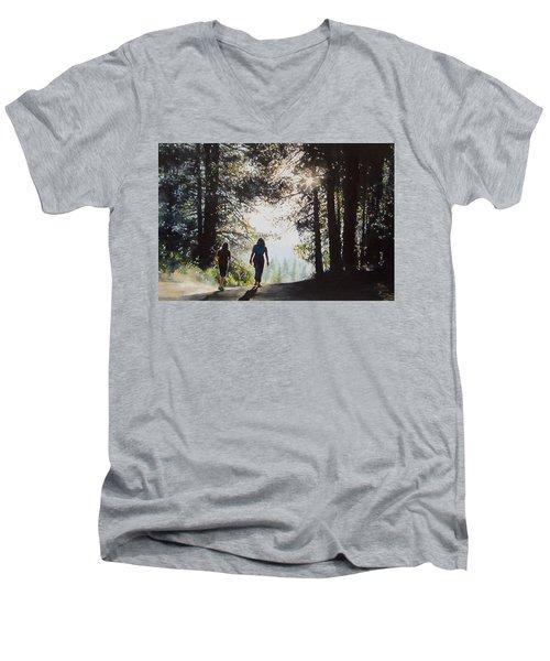 Over The Hills Men's V-Neck T-Shirt