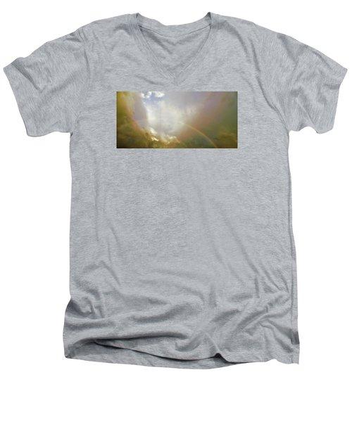 Men's V-Neck T-Shirt featuring the photograph Over The Rainbow by Deborah Moen