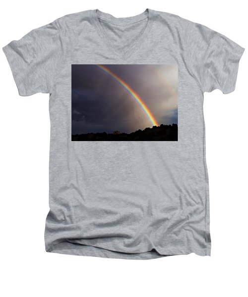 Over The Rainbow Men's V-Neck T-Shirt