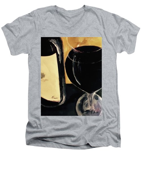 Men's V-Neck T-Shirt featuring the painting Over The Top by Lisa Kaiser