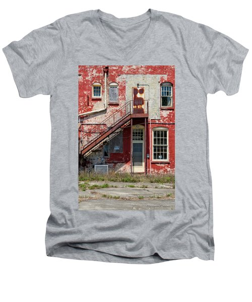 Men's V-Neck T-Shirt featuring the photograph Over Under The Stairs by Christopher Holmes