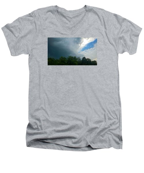 Men's V-Neck T-Shirt featuring the photograph Overcome by Carlee Ojeda
