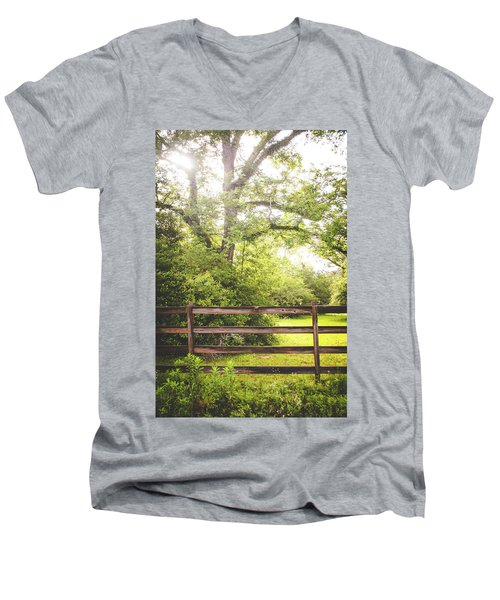 Men's V-Neck T-Shirt featuring the photograph Overgrown by Shelby Young