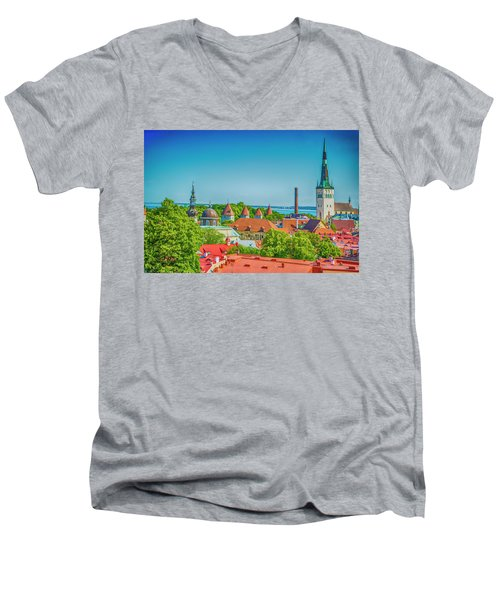 Overlooking Tallinn Men's V-Neck T-Shirt