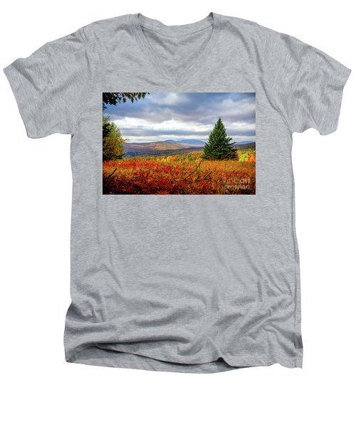 Overlooking The Foothills Men's V-Neck T-Shirt
