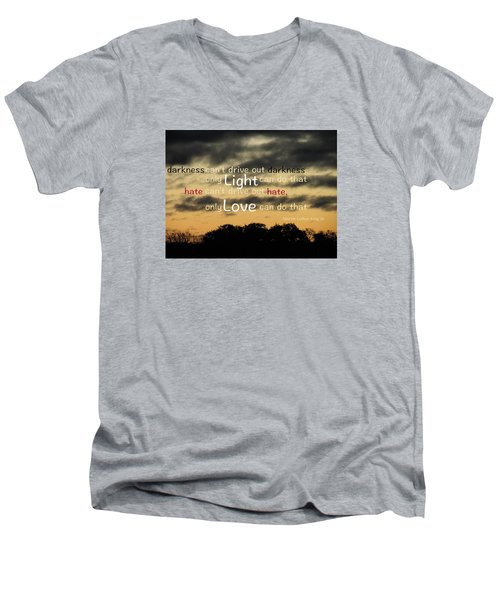 Men's V-Neck T-Shirt featuring the photograph Overpowering Hate by David Norman