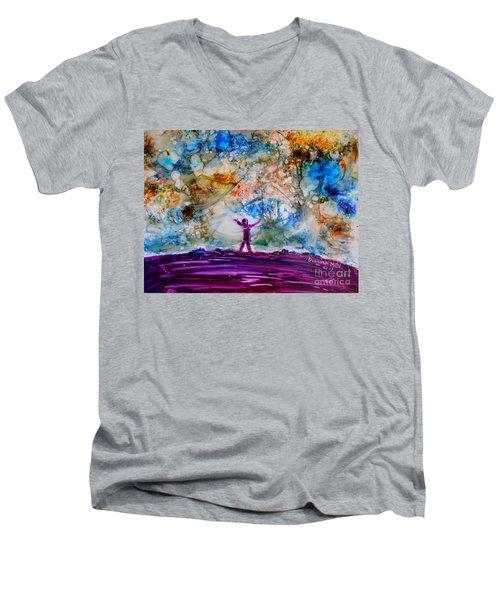 Overwhelmed Men's V-Neck T-Shirt