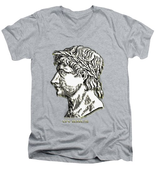Ovid Men's V-Neck T-Shirt by Asok Mukhopadhyay