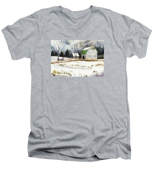 Owen County Winter Men's V-Neck T-Shirt by Katherine Miller