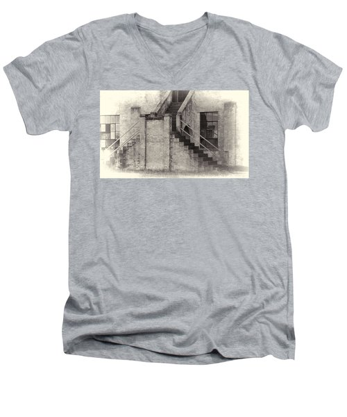 Owens Field Historic Curtiss-wright Hangar Men's V-Neck T-Shirt