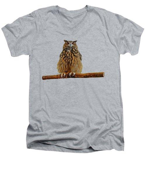 Owl Art Men's V-Neck T-Shirt