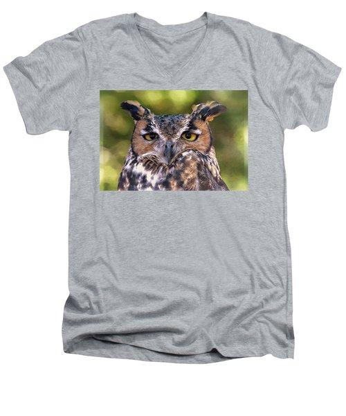 Owl Eyes Men's V-Neck T-Shirt