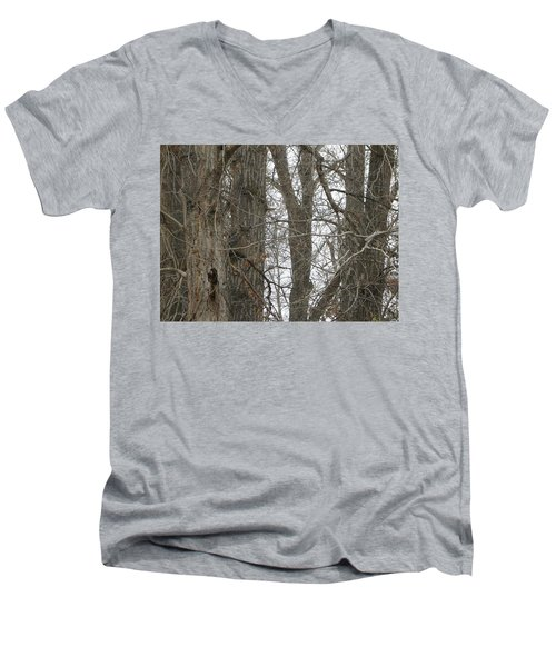 Owl In Camouflage Men's V-Neck T-Shirt