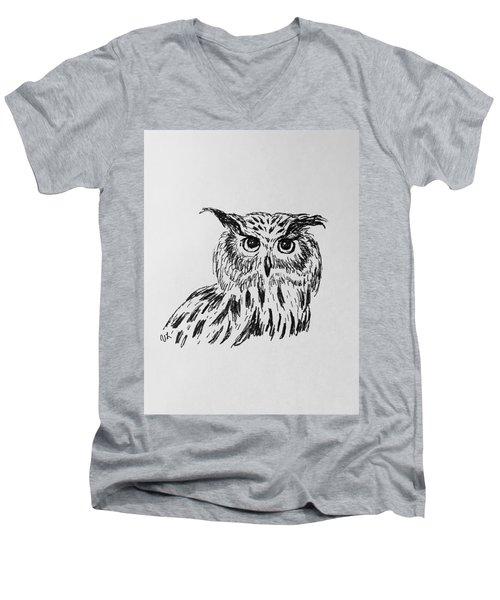 Owl Study 2 Men's V-Neck T-Shirt