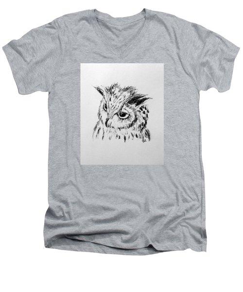 Owl Study Men's V-Neck T-Shirt