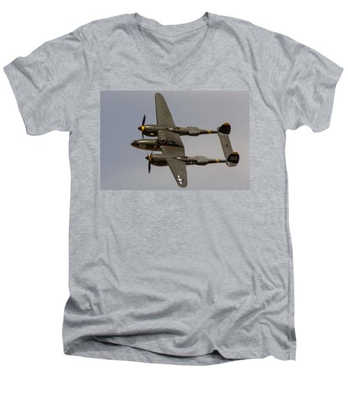 P-38 Skidoo Men's V-Neck T-Shirt