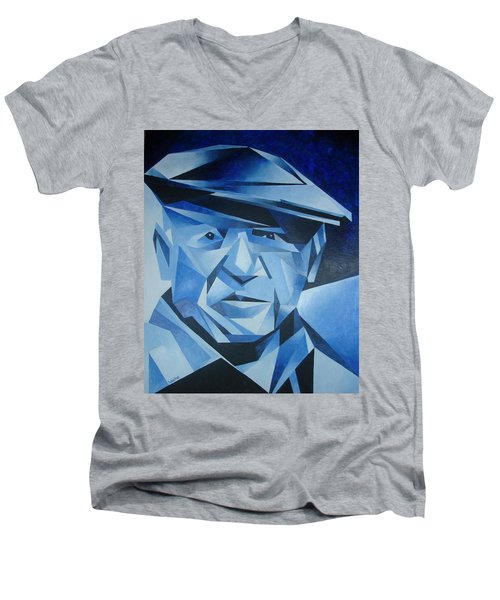 Pablo Picasso The Blue Period Men's V-Neck T-Shirt