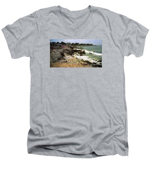 Pacific California Coast Beach Men's V-Neck T-Shirt