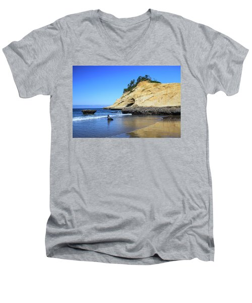 Men's V-Neck T-Shirt featuring the photograph Pacific Morning by David Chandler