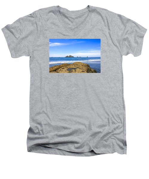 Pacific North West Coast Men's V-Neck T-Shirt by Chris Smith
