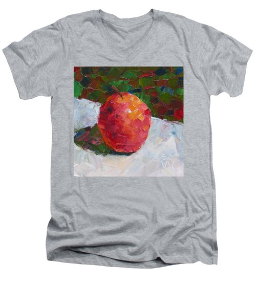 Pacific Rose Bold Men's V-Neck T-Shirt by Susan Woodward