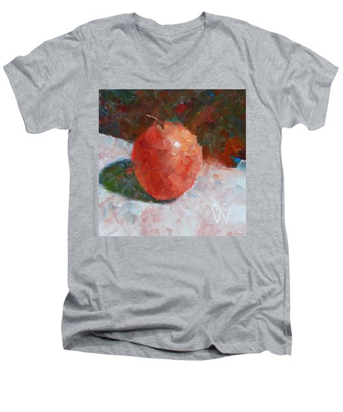 Pacific Rose Gentle Men's V-Neck T-Shirt by Susan Woodward