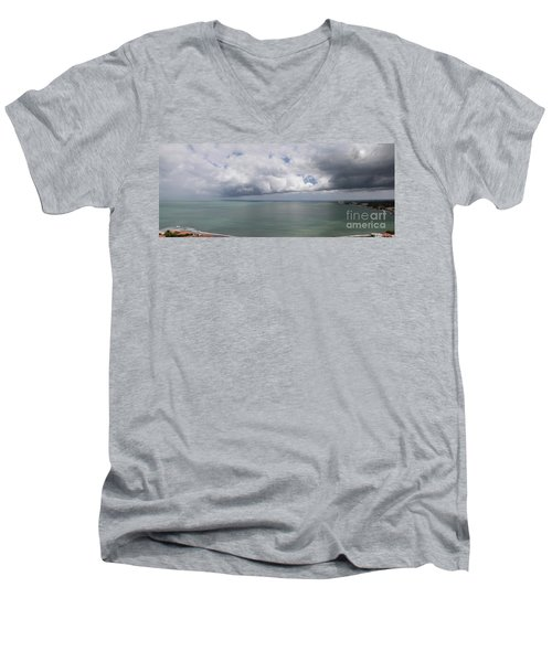 Pacific Storm Panorama Men's V-Neck T-Shirt