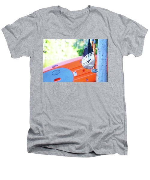 Men's V-Neck T-Shirt featuring the photograph Paddle by Angi Parks