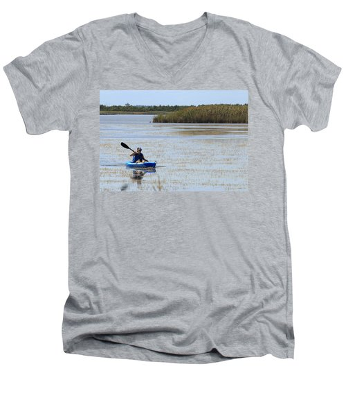 Paddle Away Men's V-Neck T-Shirt