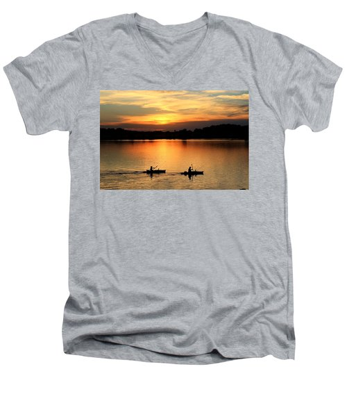 Paddling Back To Camp Men's V-Neck T-Shirt