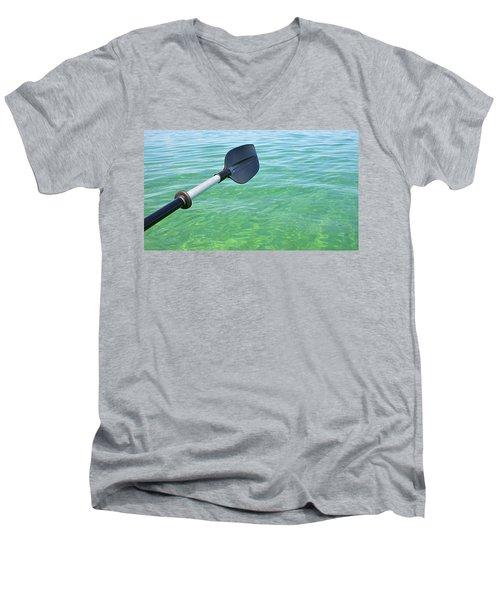 Paddling Grand Traverse Bay Men's V-Neck T-Shirt