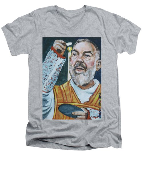Padre Pio Men's V-Neck T-Shirt