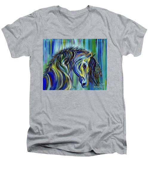 Paint Native American Horse Men's V-Neck T-Shirt