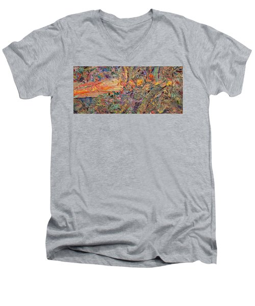 Paint Number 34 Men's V-Neck T-Shirt