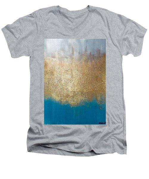 Paint The Sky Gold Men's V-Neck T-Shirt